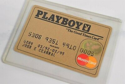 "Vtg 1990's Playboy Gold Mastercard Credit Card ""The Good Times Card"""