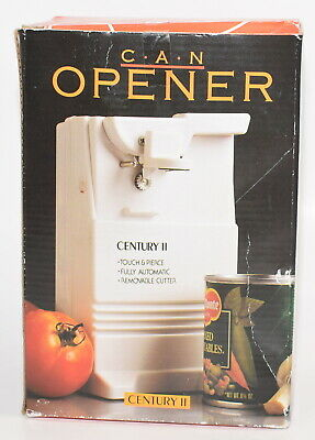 Brand New Vintage Century II White Electric Can Opener NOS