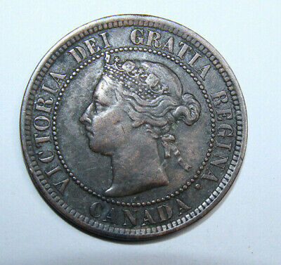 Canadian 1891 One Cent Coin with Small Date Small Leaves