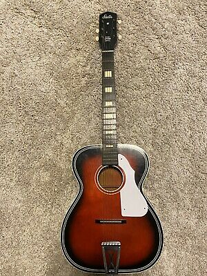 Vintage 1966 Stella Harmony Model H1141 Grand Concert Size Acoustic Guitar WOW!!