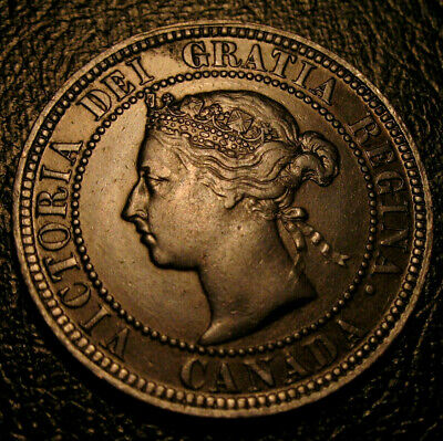 Old Canadian Coins 1882 H Canada HIgrade Large Cent Key Date Beauty