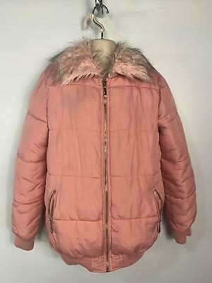 Girls F&F Pink Casual Winter Padded Rain Coat Puffer Jacket Kids Age 10/11 Years