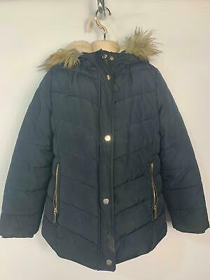 Girl Primark Black Casual Winter Padded Raincoat School Jacket Kid Age 11 Years