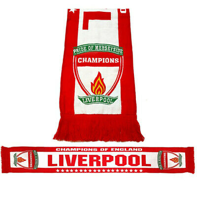 Liverpool Champions of England SCARF HD 2020 Times League 19 Stars