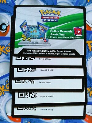 Pokemon Sword and Shield TCGO codes (emailed)