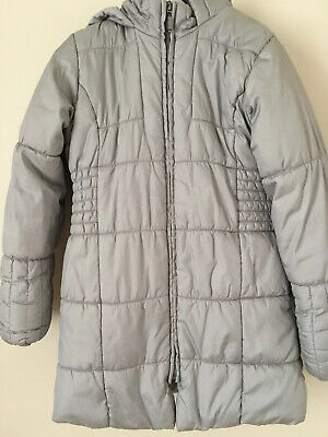 Girls Marks&Spencer Grey School Hood Winter Jacket Rain Coat Kids Age 7-8 Years