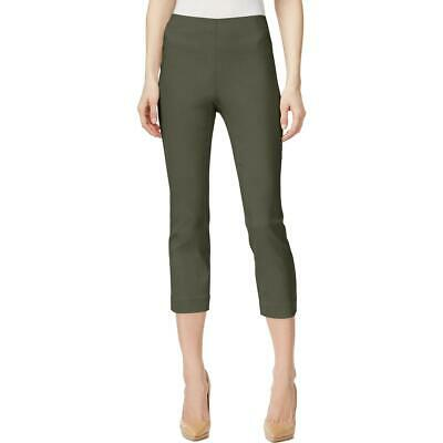 Style & Co. Womens Green Mid-Rise Comfort Waist Cropped Capri Pants S BHFO 5068