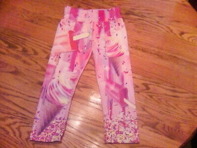 Justice Ice Cream Cropped Girl's Leggings,Size 14/16