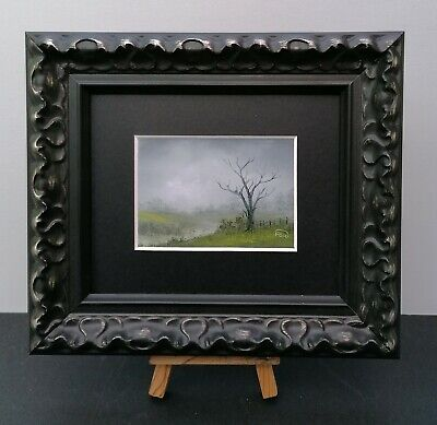 ACEO 2019-224 Pip Walters Original Framed Miniature Oil Painting 'The Meadow'