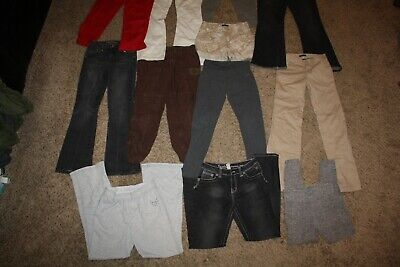 Lot Of 17 Girls Clothing Size 12 Gap Justice Limited Too Pants Shirts Leggings