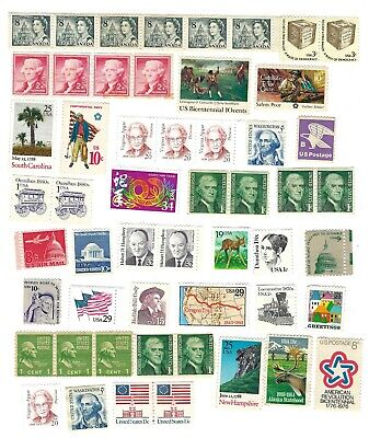 US POSTAGE STAMP Lot UNCANCELLED Cancelled ON OFF PAPER USPS International Vtg
