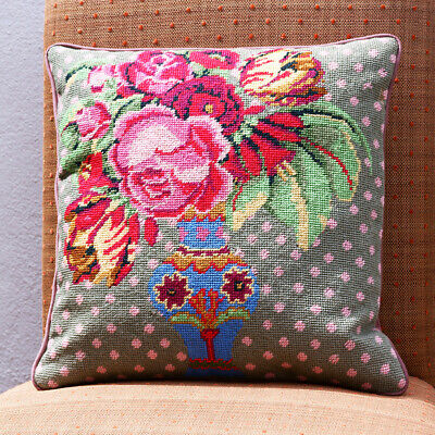 EHRMAN 'THE BLUE VASE' by KAFFE FASSETT TAPESTRY NEEDLEPOINT KIT - DISCONTINUED
