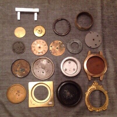 Antique Metal Clock Parts From Clockmakers Collection Spare Parts