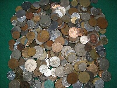 ✯10 LB POUNDS FOREIGN MIXED COINS ✯ UNSEARCHED UNCLEANED FOUND IN GARAGE✯