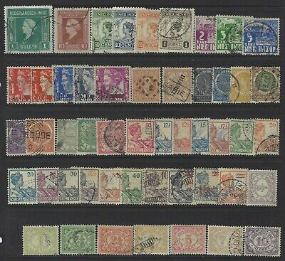 Netherlands Indies, Lot of 50 Different Stamps, Used