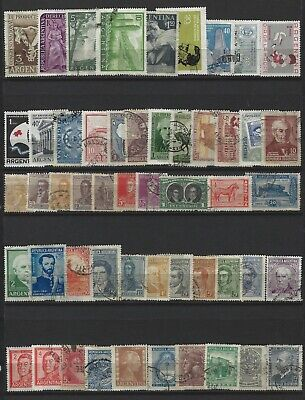 Argentina, Lot of 50 Different Stamps, Mostly Used