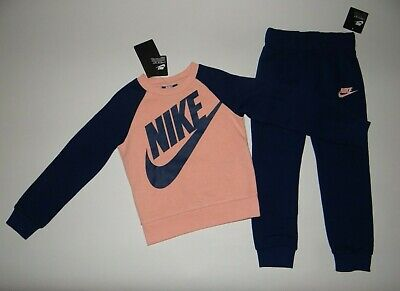 NWT, Toddler girl clothes, 4T, Nike, Thick Fleece jogger set/ SEE DETAILS COLOR~