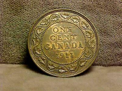 Canada Large Cent 1911 Coin  AU