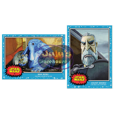 Topps Star Wars Living Set 2-Card Lot #69-70 Max Rebo & Count Dooku