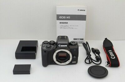 """MINT"" Canon EOS M5 24.2MP Mirrorless Digital Camera Black Body Only #200207ae"