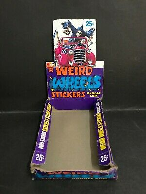 Trading Card Weird Wheels Stickers Vintage Box By Topps