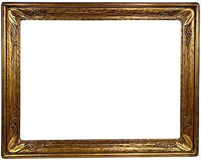 "20th c. American ARTS & CRAFTS Gilt Carved Picture Frame for 18"" x 24"" Painting"