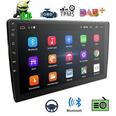 """9"""" Double 2Din Android 9.0 Car Radio Audio Stereo GPS Navigation Bluetooth DAB+"""