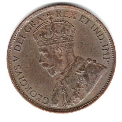 (Pgasteelers1)  Canada 1914 Large Cent  King George V KM#21 XF+