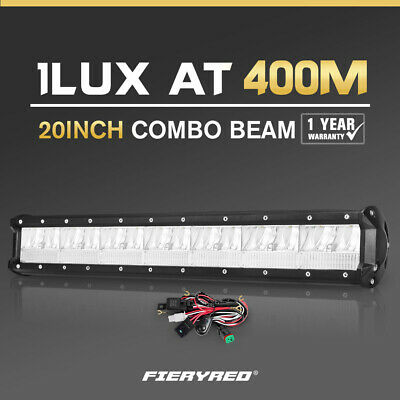 DEFEND INDUST 20inch Cree LED Light Bar combo Driving Lamp Offroad 4WD SUV Truck
