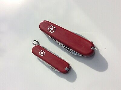 Knife Victorinox Swiss Army - 2 Couteaux -> Classic Red + Tourist 84 mm Red