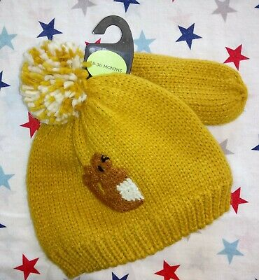 Marks And Spencer Younger Boys Hat And Mittens Set, 18-36 Months. BNWT