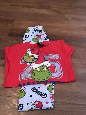 Grinch Christmas Winter Pyjamas - Age 6-7 - New with Tags - Dr Seuss