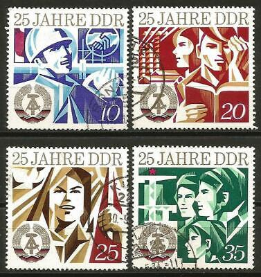 Germany (East) DDR GDR 1974 used 25th Anniversary Mi-1949-1952 SG-E1664/1667