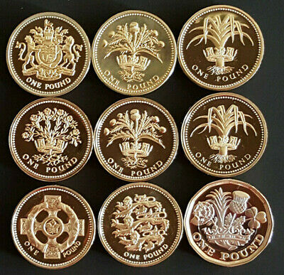 1983-2020 Elizabeth II £1 One Pound PROOF Coins - Choose Your Year