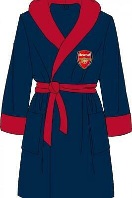 Arsenal AFC Mens Dressing Gown Bathrobe Supersoft Fleece Sizes S M L XL Official