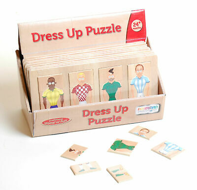 Dress up Football Puzzle Children Kids Wooden Educational Puzzle Gifts Wooden