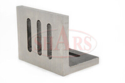 """Shars Precision Machined .002"""" Open End Angle Plate 4-1/2x3-1/2x3"""" New"""
