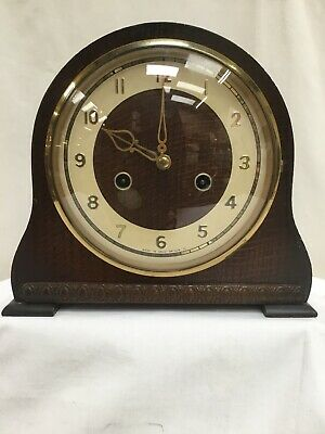 Vintage Smiths Enfield Mantle Clock For Parts/Project Not Working (No.113)