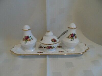 Royal Albert, Old Country Roses, Four Piece Cruet.
