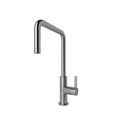 GoodHome Kamut Stainless steel effect Kitchen Side lever Mixer tap NO1911