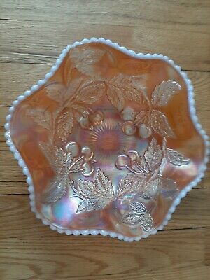 Antique Carnival Milk Glass Bowl