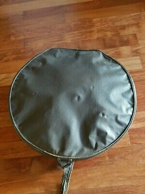 Large Vintage Hat Box Vanity Case Brown