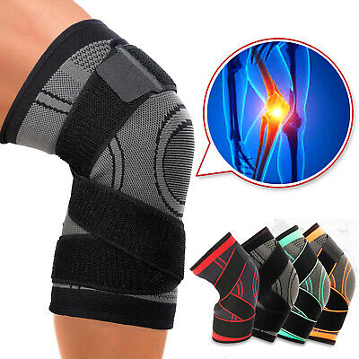 Knee Brace Compression Sleeve Meniscus Support Sports Gym Pain Relief Arthritis
