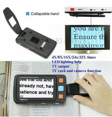 "5"" LCD Portable Video Digital Magnifier Electronic Reading Aid for Low Vision"
