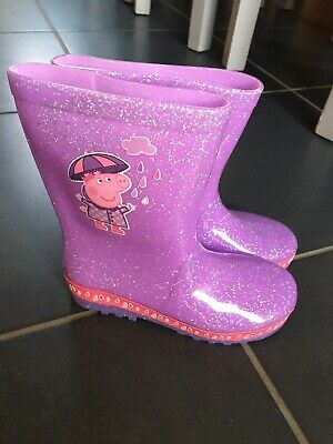 M&S Girls Peppa Pig Wellies Size 12, Bnwot