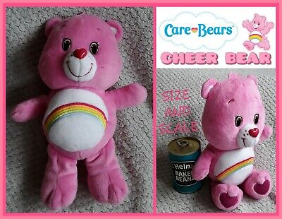 """Official Care Bears: Cheer Bear pink Teddy 13"""" cuddly soft toy beanie baby plush"""