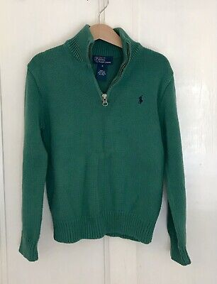 POLO by RALPH LAUREN Boys' Green Cotton Jumper/Sweater-Size 6 Years-Exc. Cond.