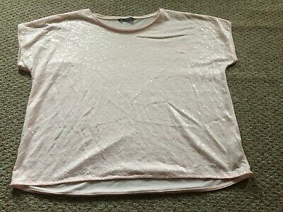 Marks and spencer pretty pale pink sparkle sequinned tshirt