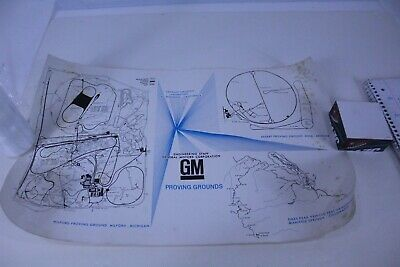 GM Proving Grounds Meza AZ Chevy Pontiac Buick Olds Cadillac Rare Map Vintage