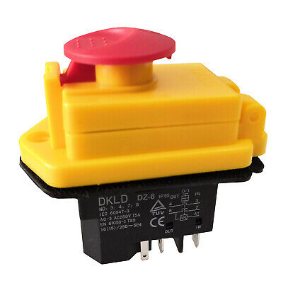 DKLD DZ-6 Electromagnetic Pushbutton Switches with Emergency Stop Cover 5Pins